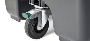 contenedores de carga trasera de 3 ruedas para residuos - 3a rueda