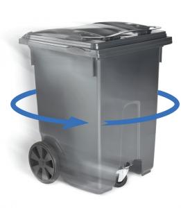 contenedores de carga trasera de 3 ruedas para residuos - giro completo