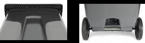 contenedores de carga trasera de 3 ruedas para residuos - ESE 3 ruedas peine + agarre