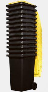 contenedores carga trasera 2 ruedas CL apilados